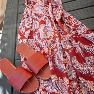 Maxi dress and madwell slides